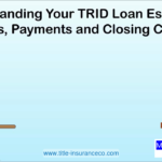 TRID Loan Estimates  Terms, Payments, Closing